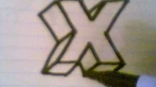 HOW TO DRAW 3D LETTERS ( X )