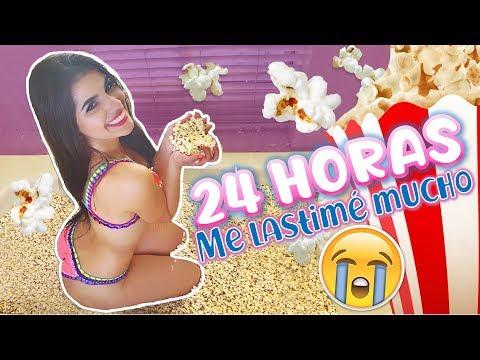 24 HORAS EN UN JACUZZI LLENO DE PALOMITAS DE MAIZ  - TERMINA MAL