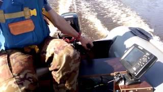 сапсан 380 и мотор 9.8. пробный выход на воду
