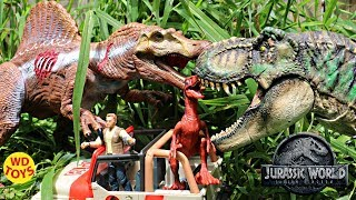 New T-Rex Vs Spinosaurus Jurassic World legacy Fallen Kingdom Dinosaur Toys Unboxing Kohls Exclusive