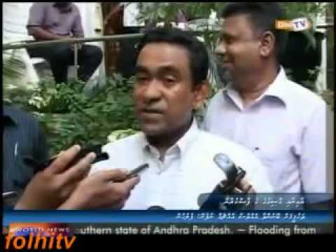 Interview after police raided Abdulla Yameen Abdul Gayoom's house.