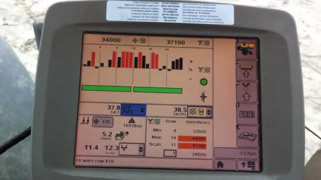 John Deere Seedstar 2600 Monitor In Field Youtube