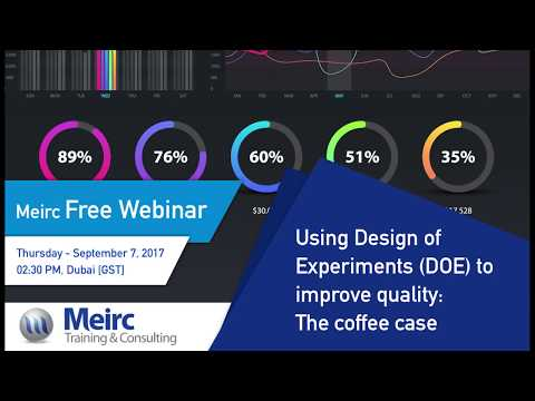 Using Design of Experiments (DOE) to improve quality|Quality and Productivity| Dubai | Meirc