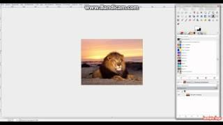 Урок по GIMP создание прозрачного текста