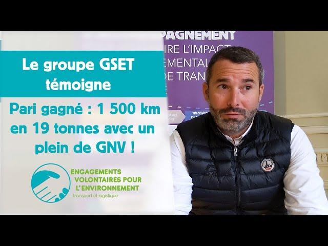 Pari gagné pour GSET : 1500 km en 19 tonnes avec un plein de GNV