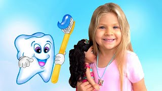 Diana y Papá van al dentista.