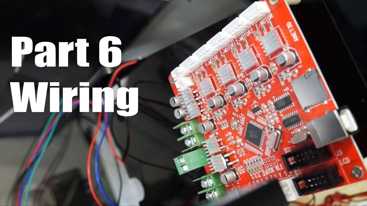 Anet A8 3d Printer Build Guide Part 6 Wiring
