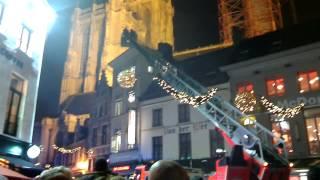 Brand op de kerstmarkt te Antwerpen