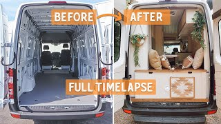 Amateur Builders turn SPRINTER VAN to BEAUTIFUL TINY HOME during PANDEMIC | FULL  TIMELAPSE