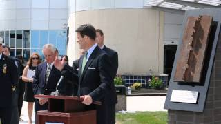 World Trade Center Memorial Dedication Ceremony at Atlantic City International Airport