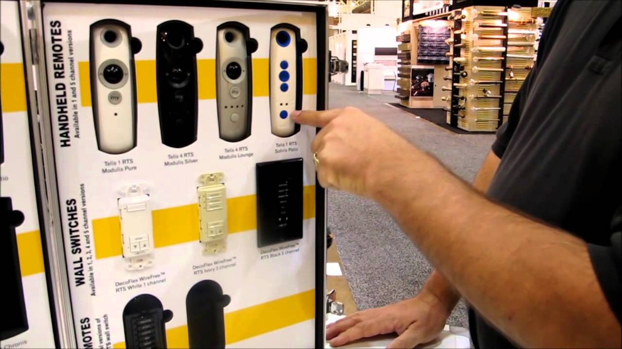 Somfy Motor Controls And Switches Explained By 3 Blind