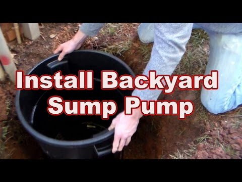 how to replace or install your backyard sump pump youtube