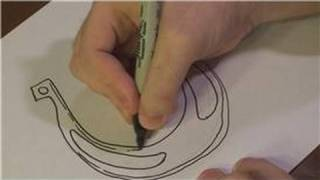 Drawing Lessons : How to Draw a Horse Shoe
