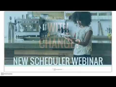 New Scheduler Webinar