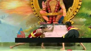 Kalaripayattu(martial arts) presented by VKM kalari team in sabarimala Sabarimala News 2014