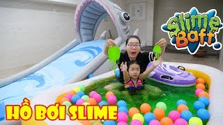 CHƠI HỒ BƠI & CẦU TRƯỢT SLIME BAFF KHỔNG LỒ ( Giant Pool Slime )
