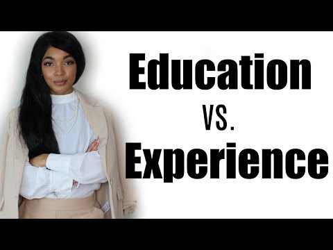 Education vs. Experience - The PROs & CONs of both | Brittany Daniel