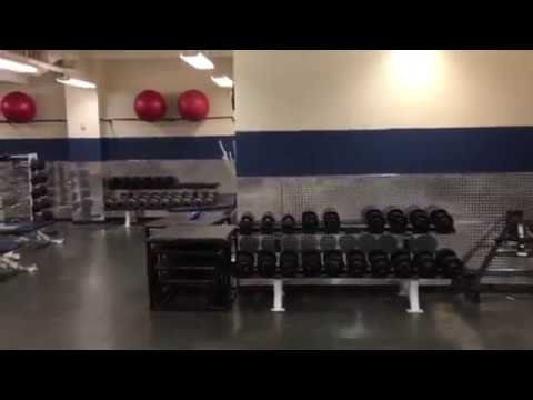 Diamond plate wall panels installed at Valor Christian High School football weight room