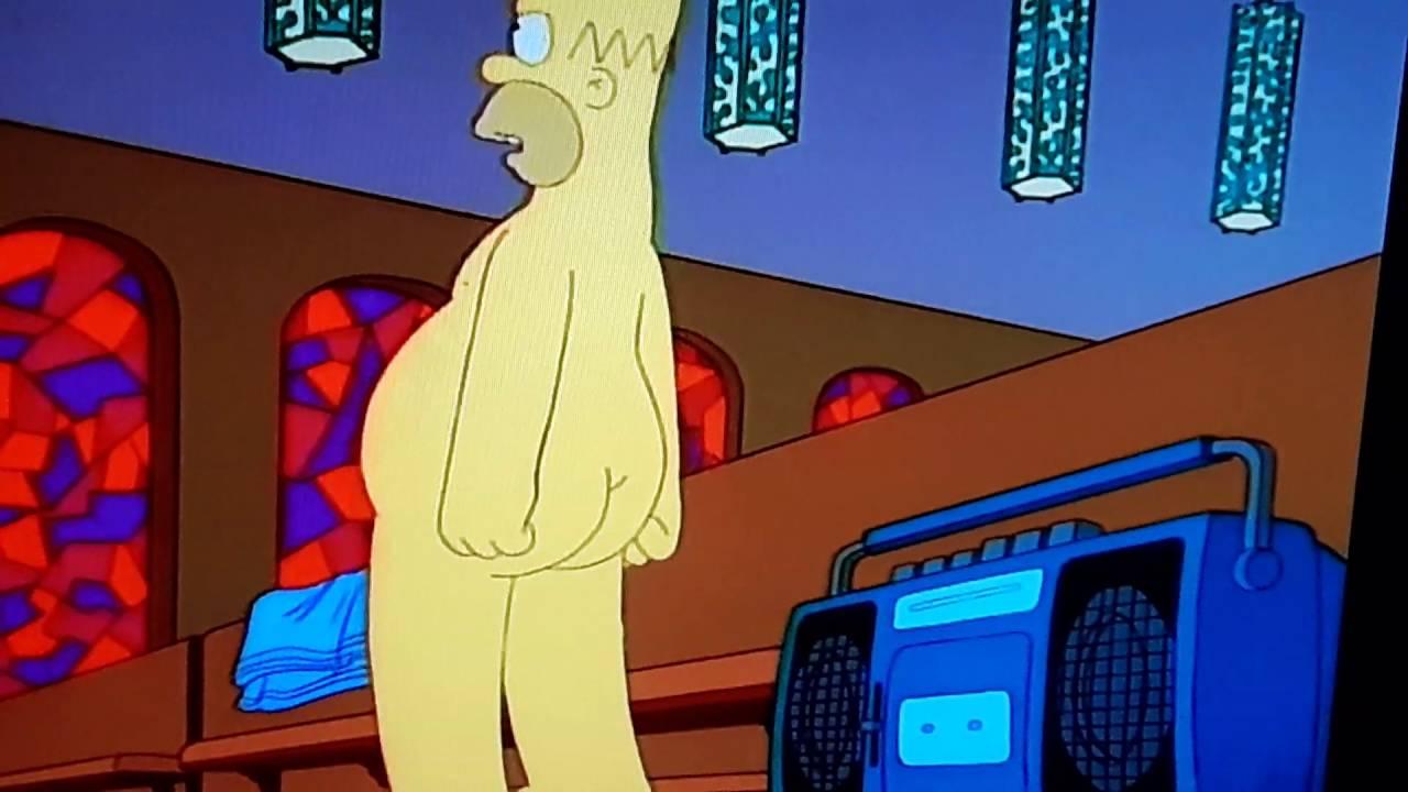 homer simpson fully naked