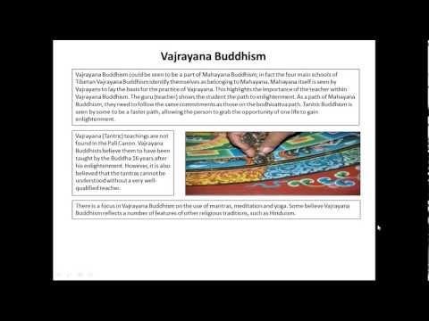 Theravada, Mahayana and Vajrayana Buddhism