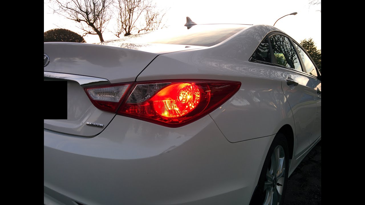 hyundai sonata 2011 2014 tail light installation [ 1280 x 720 Pixel ]