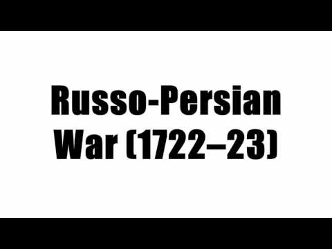 Russo-Persian War (1722–23)
