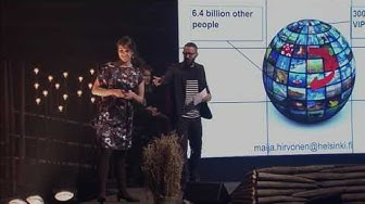 Maija Hirvonen (University of Helsinki) at Slush Science Pitching Competition