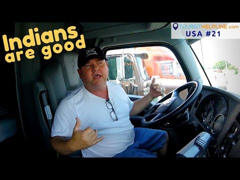 This American Truck Driver Loves HINDI  !!