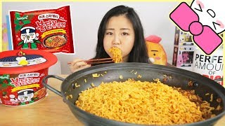NEW!! SAMYANG SPICY FIRE MEAT SPAGHETTI NOODLES l MUKBANG