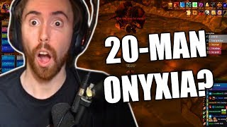 Asmongold Attempts A 20 Man Onyxia Raid