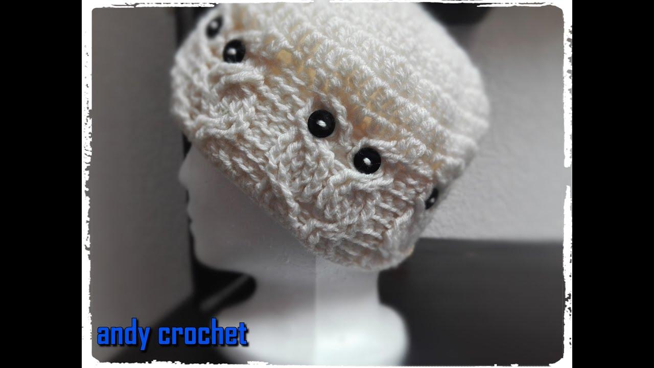 GORRO A #CROCHET CON #MOTIVOS DE #BUHOS - YouTube