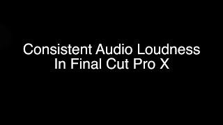 For those who edit in Final Cut Pro X, ensuring that your audio was...
