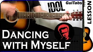 How to play Dancing With Myself 😎 – Billy Idol / Guitar Tutorial 🎸