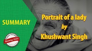 Portrait of a Lady Summary by Khushwant Singh