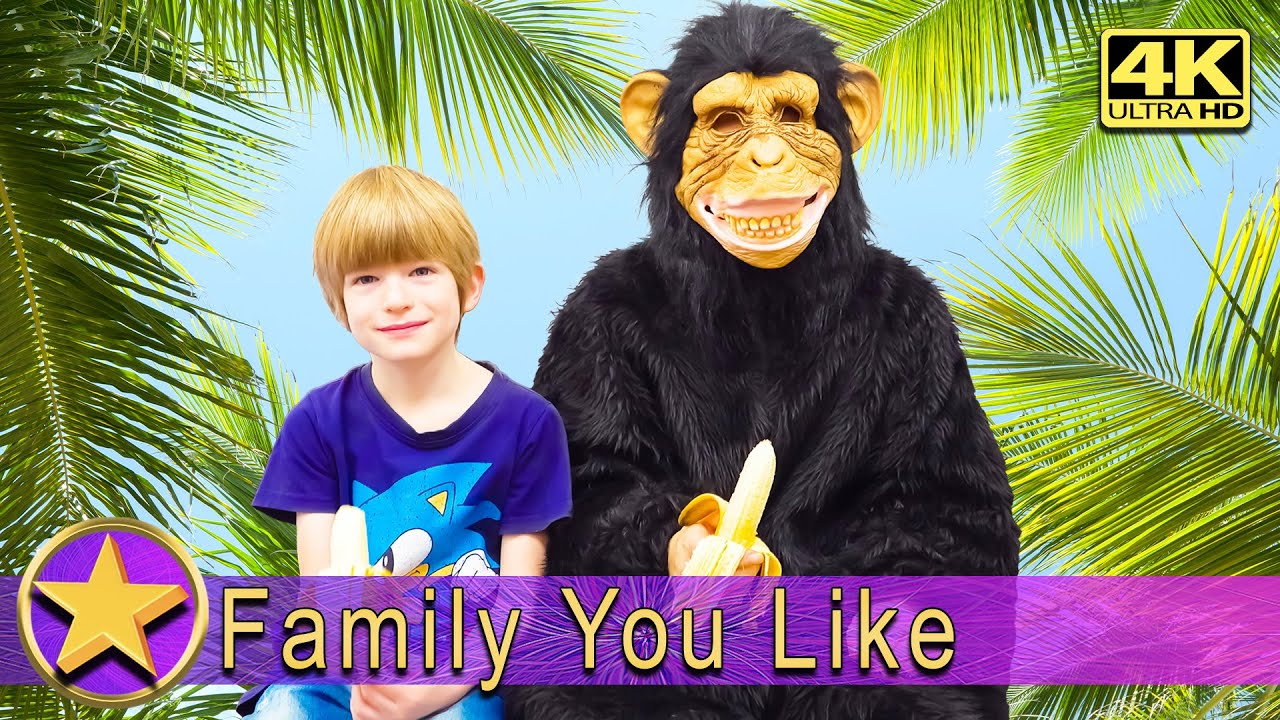 Funny Story about a Monkey and a Boy - 4К