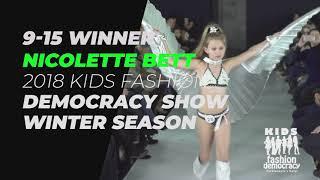 Nicolette Bett 9-15 Year Old Model Winner 2018 KIDS Fashion Democracy Winter Show In NYC