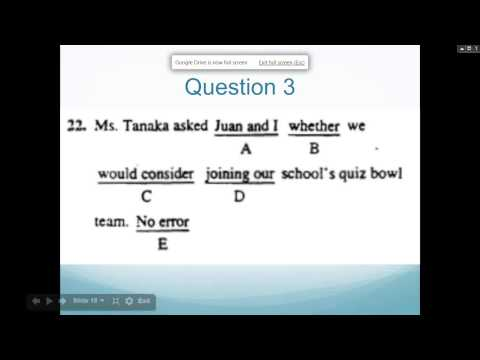 Free SAT Webinar Quick and Easy Grammar Rules for the SAT
