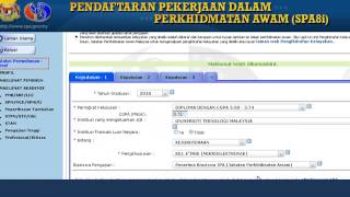 Pendaftaran Pekerjaan Dalam Perkhidmatan Awam (SPA8i)