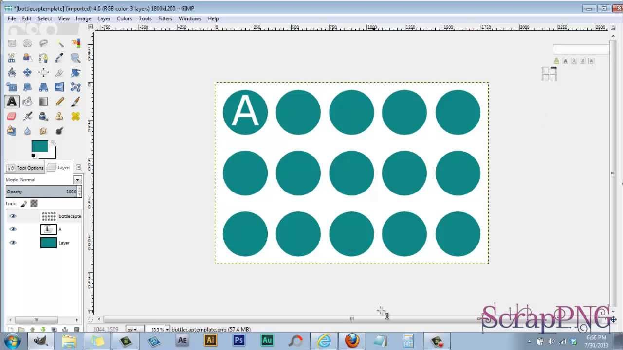 how to use my free bottle cap template a gimp tutorial youtube