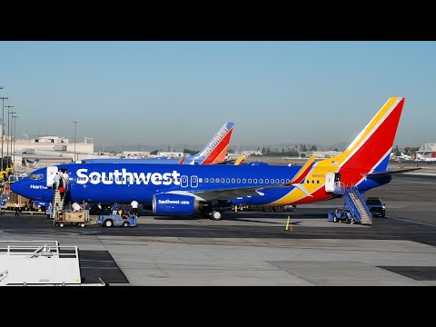 Southwest Airlines' New Livery: First Revenue Flight Arriving at BUR!