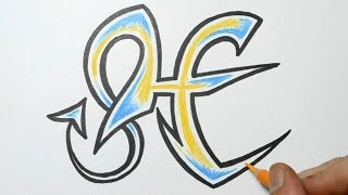 How to Draw Graffiti - Letter H