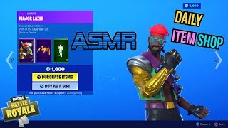 ASMR | Fortnite NEW Major Lazer Skin and Lazerism Set! Item Shop Update 🎮🎧Whispering😴💤