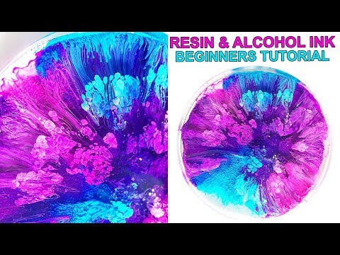 Resin Petri Dish & Alcohol Ink Tutorial BASICS