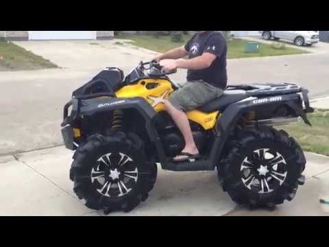 2015 can am 800 xmr with RJWC slip on