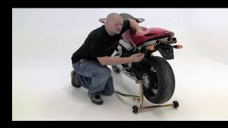 Using Pit Bull One Armed Rear Stands On Motorcycles With Single Sided Swingarm