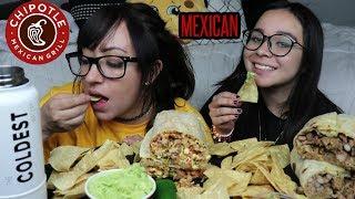CARNE ASADA BURRITO AND CHIPOTLE CARNITAS BURRITO MUKBANG | EATING SHOW