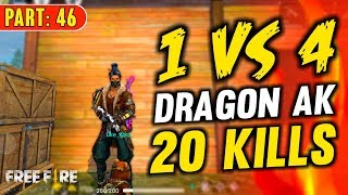 Solo vs Squad AK47 with 20 Kills - Garena Free Fire- Total Gaming