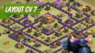 Layout CV7 Guerra   Layout TH7 WAR   Clash of Clans