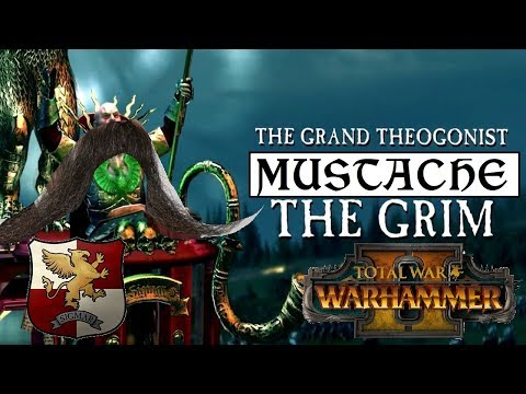 Empire Vs Greenskins   MUSTACHE THE GRIM, GRAND THEOGONIST - Total War Warhammer 2