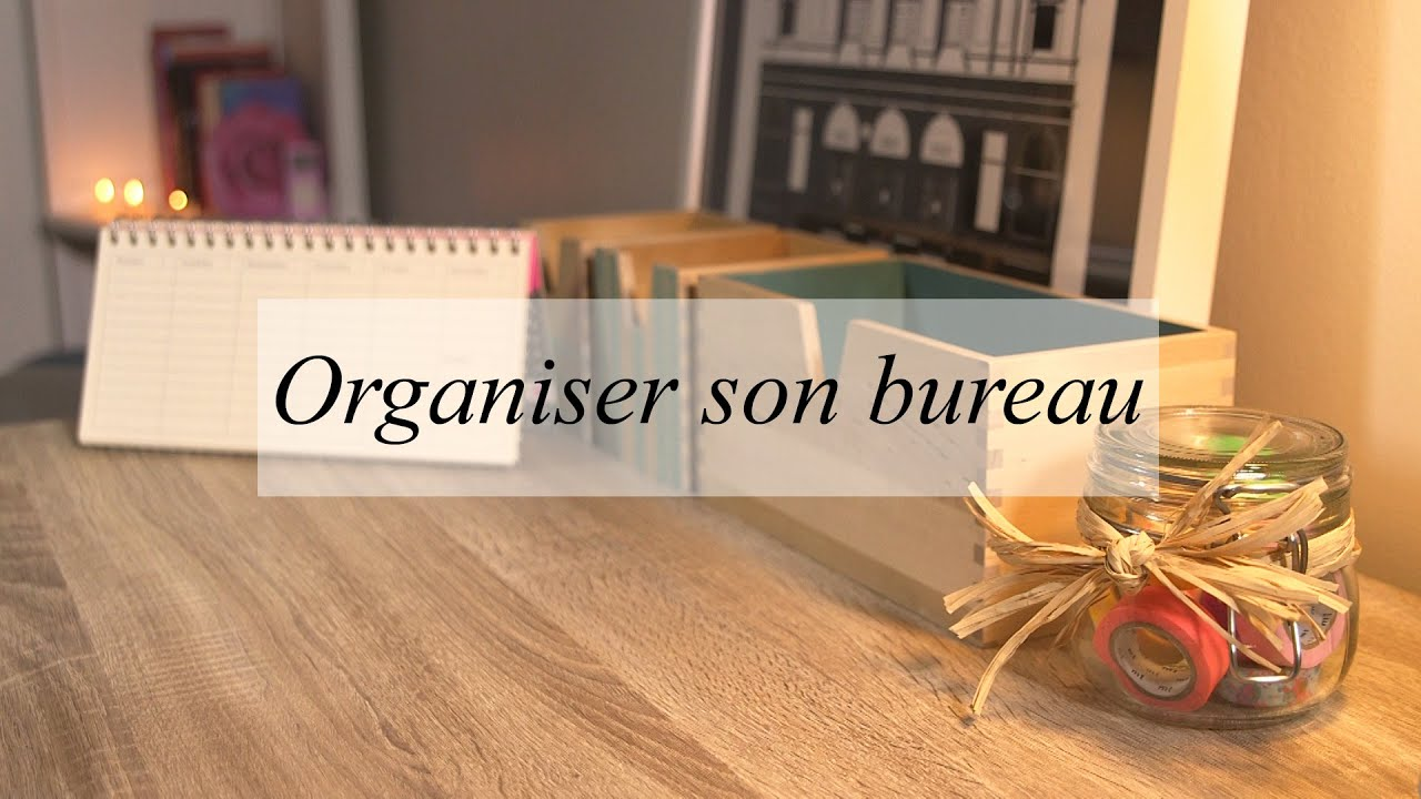 Id es diy et d co pour organiser son bureau youtube for Idees deco bureau maison
